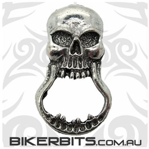 Sunglass Holder - Open Jawed Skull