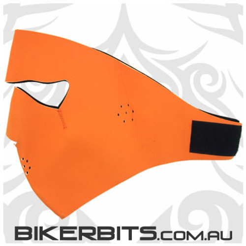 Headwear - Neoprene Full Face Mask - Orange