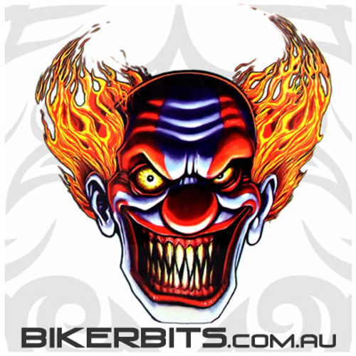 Biker Decal - Evil Clown