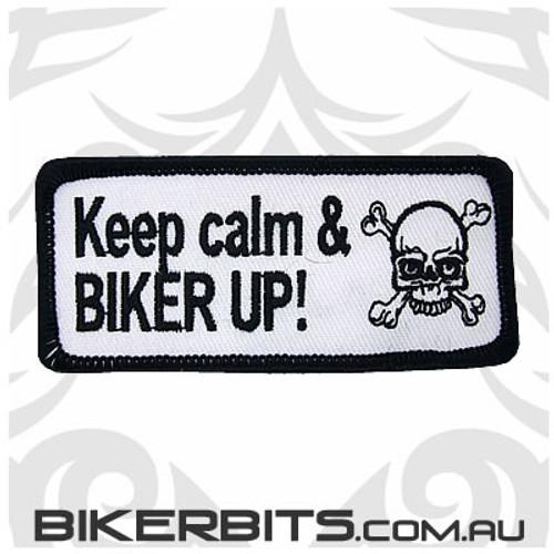 Patch - Keep Calm & BIKER UP!