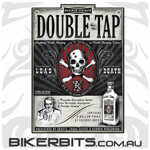 Biker Decal - Double Tap