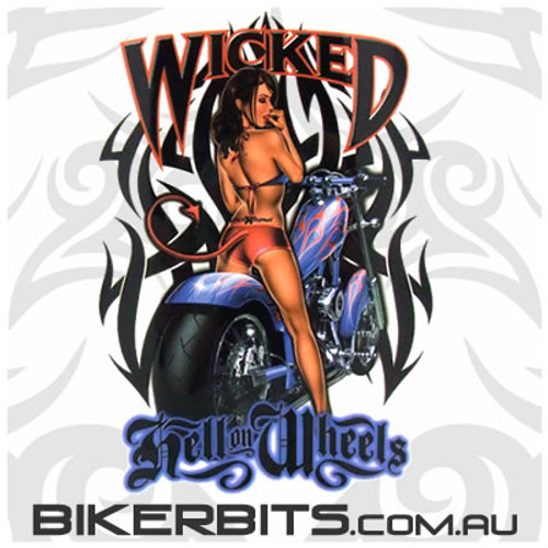 Biker Decal - Wicked - Pin Up Girl