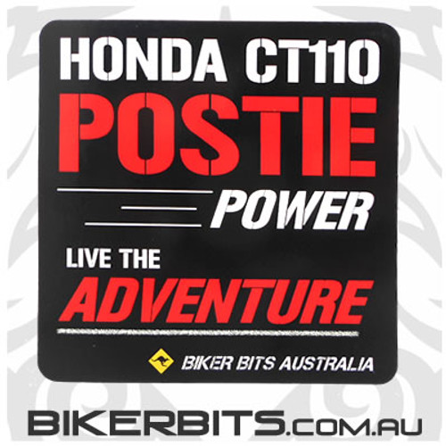 Biker Decal - Honda CT110 Postie Power