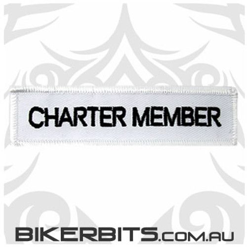 Patch - Biker Club CHARTER MEMBER 2