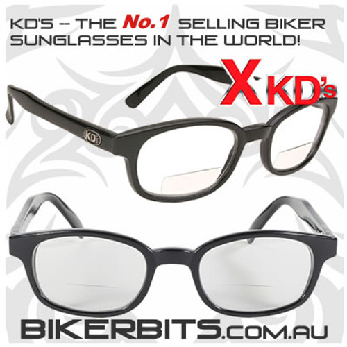 Motorcycle Sunglasses - X KD's Readerz - Clear - 1.50
