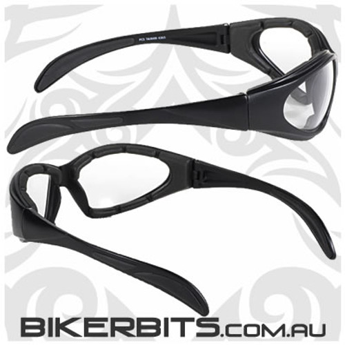 Motorcycle Sunglasses - Chopper - Clear