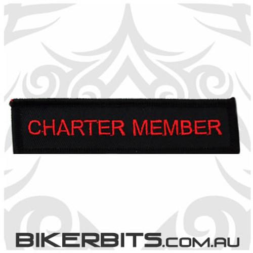Patch - Biker Club CHARTER MEMBER 1