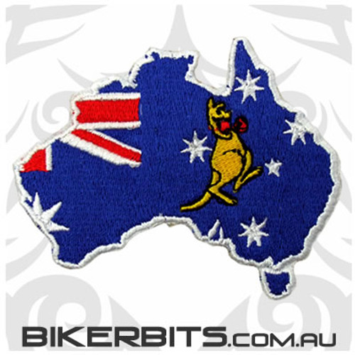 Patch - Boxing Kangaroo Australian Flag