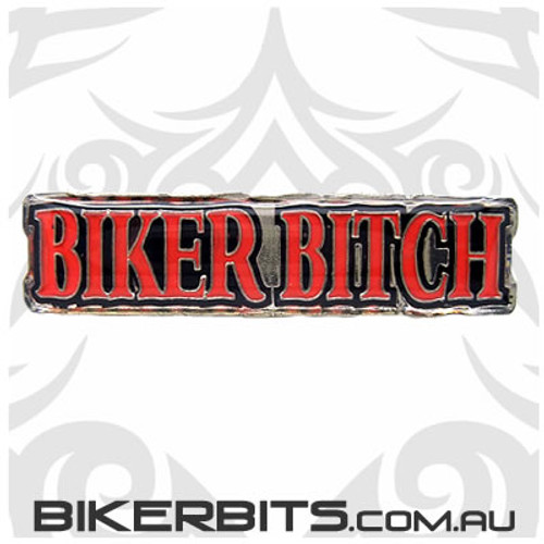 Lapel Pin - Biker Bitch