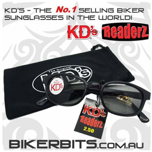 Motorcycle Sunglasses - KD's Bi-Focal Readerz - Smoke - 2.50