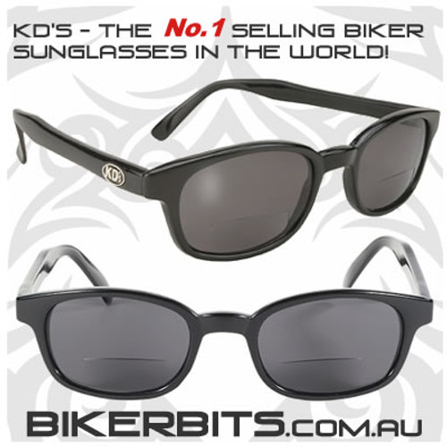 Motorcycle Sunglasses - KD's Readerz - Smoke - 2.50