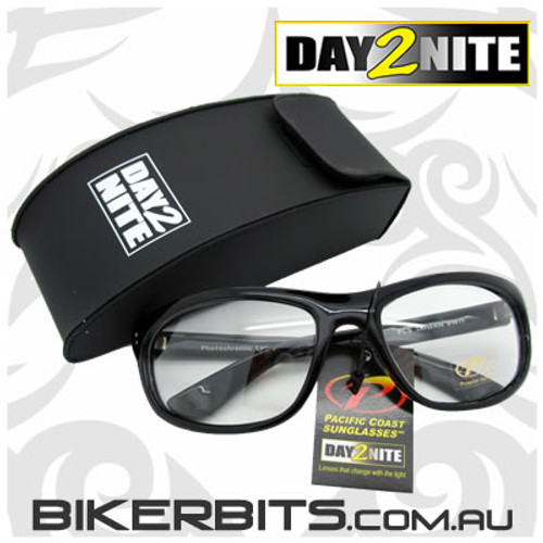 Motorcycle Sunglasses - Dirty Harry - Day2Nite Black
