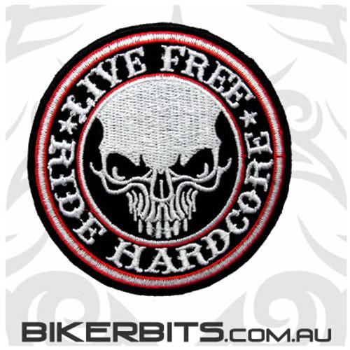 Patch - Live Free - Ride Hardcore
