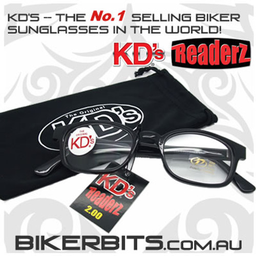 Motorcycle Sunglasses - KD's Bi-Focal Readerz - Clear - 2.00
