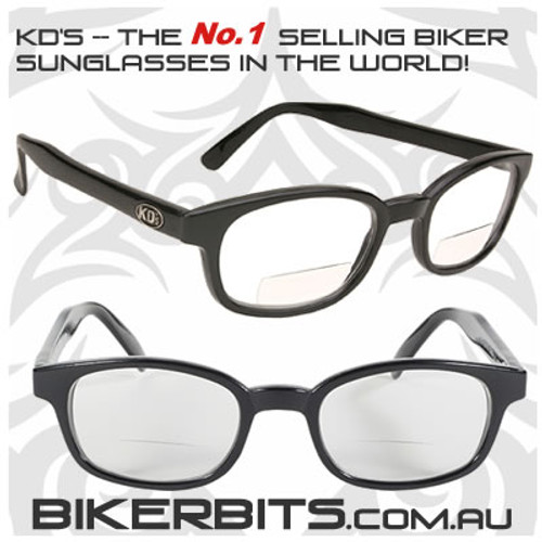 Motorcycle Sunglasses - KD's Readerz - Clear - 2.00