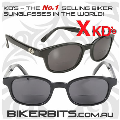 Motorcycle Sunglasses - X KD's Readerz - Smoke - 1.50