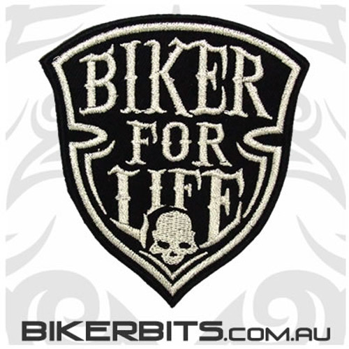 Patch - Biker For Life Shield