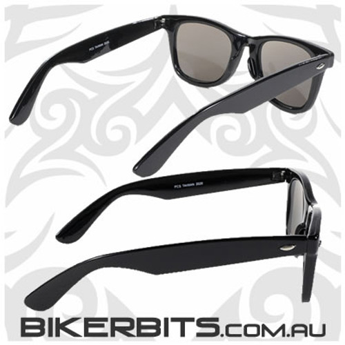 Motorcycle Sunglasses - Blues Brothers - Smoke Black