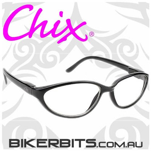 Motorcycle Sunglasses - Chix Fantasy - Clear/Black