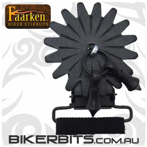 Faarken Biker Stirrups - Vamanos Spur Black