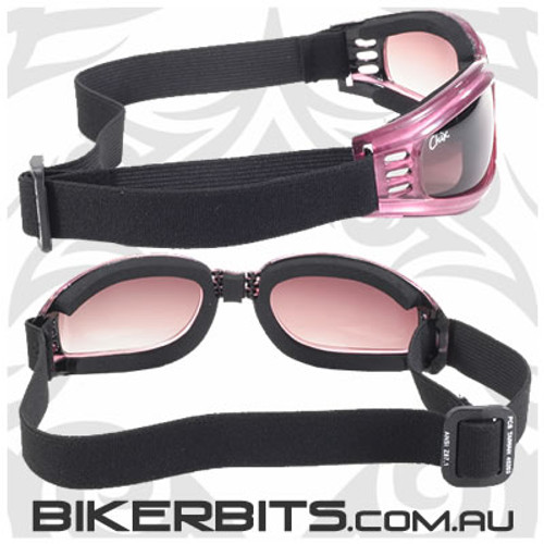 Motorcycle Goggles - Chix Nomad - Smoke/Purple