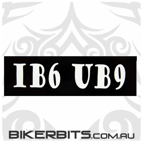 Helmet Sticker - IB6 UB9