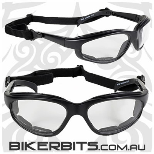 Motorcycle Sunglasses - Freedom Black/Clear