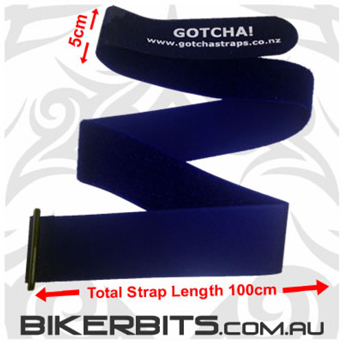 Gotcha Straps - 5cm wide x 1 metre long - 6 Pack - Blue