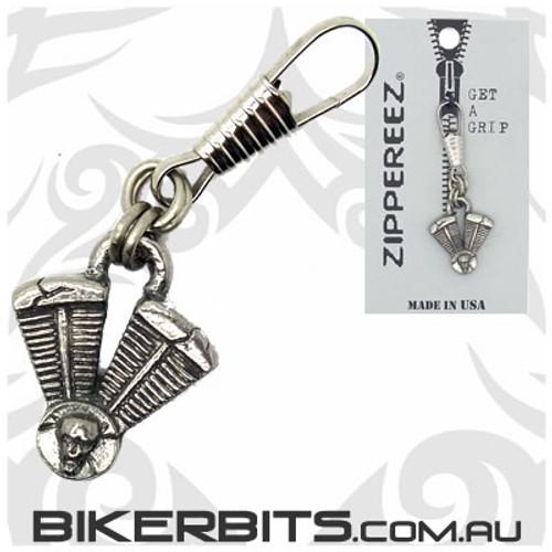 Zippereez Zipper Pull - V-Twin