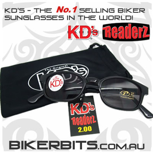 Motorcycle Sunglasses - KD's Bi-Focal Readerz - Smoke - 2.00