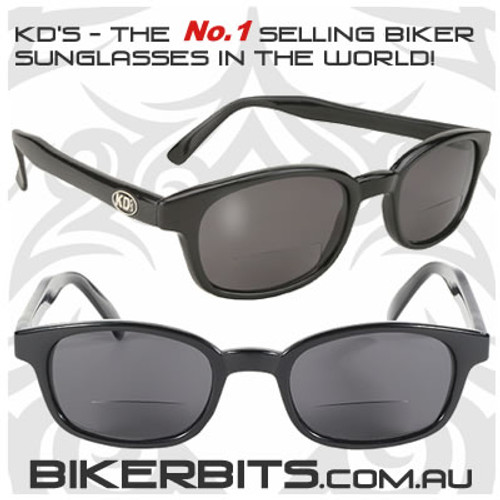 Motorcycle Sunglasses - KD's Readerz - Smoke - 2.00