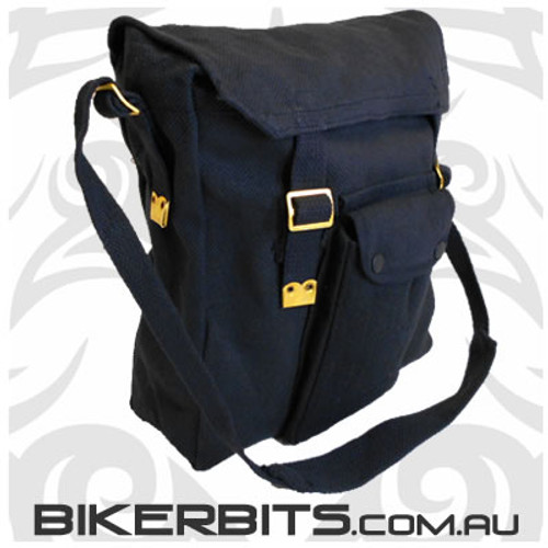 Messenger Bag with Front Pocket - Black