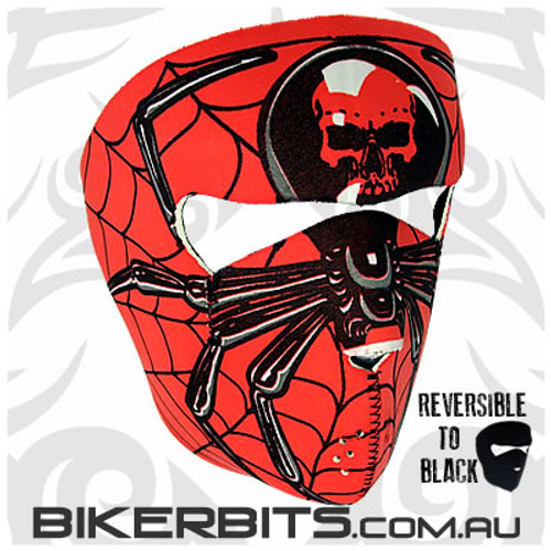 Headwear - Neoprene Full Face Mask - Spider