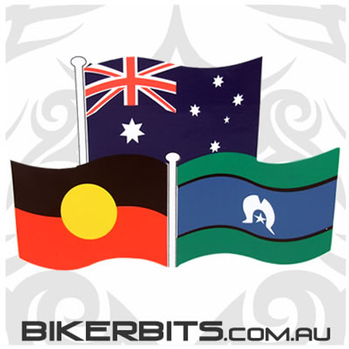 Biker Decal - Flags of Australia