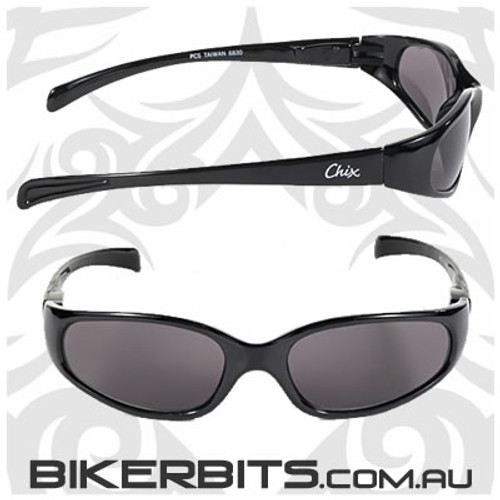Motorcycle Sunglasses - Chix Heavenly - Smoke/Black