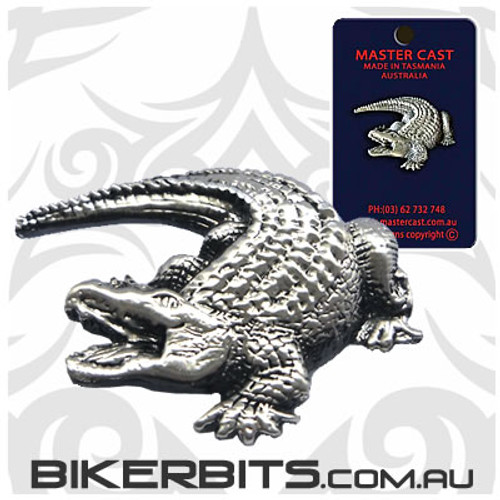 Lapel Pin - Crocodile - Pewter