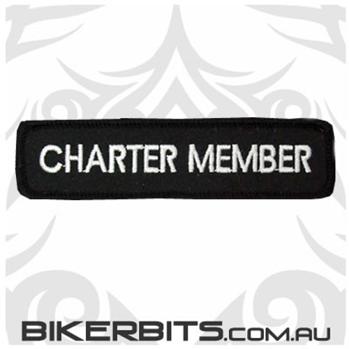 Patch - Biker Club CHARTER MEMBER