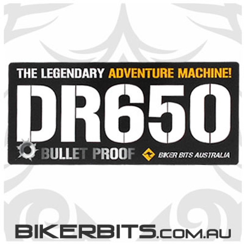 Biker Decal - DR650 - Bullet Proof
