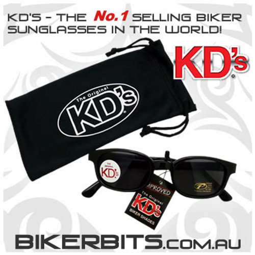 Motorcycle Sunglasses - KD's Black - Smoke
