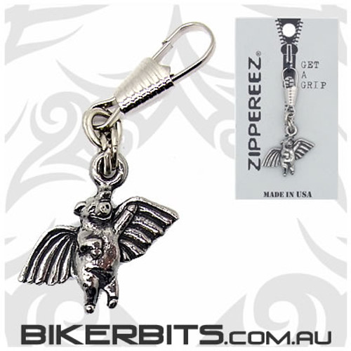 Zippereez Zipper Pull - Flying Pig with Wings