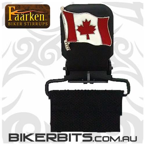 Faarken Biker Stirrups - Canadian Flag
