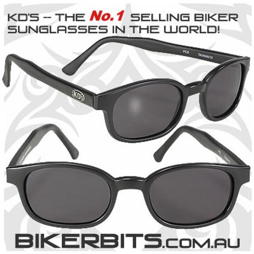Motorcycle Sunglasses - X KD's Matte Black - Smoke