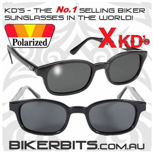 Motorcycle Sunglasses - X KD's Polarized Grey