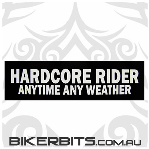 Helmet Sticker - Hardcore Rider