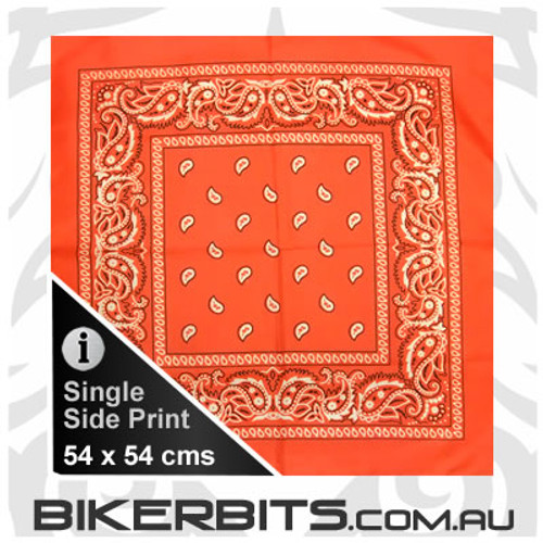 Headwear - Bandana - Orange Paisley