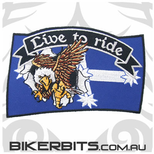 Patch - Eureka Flag - Eagle - Live to Ride