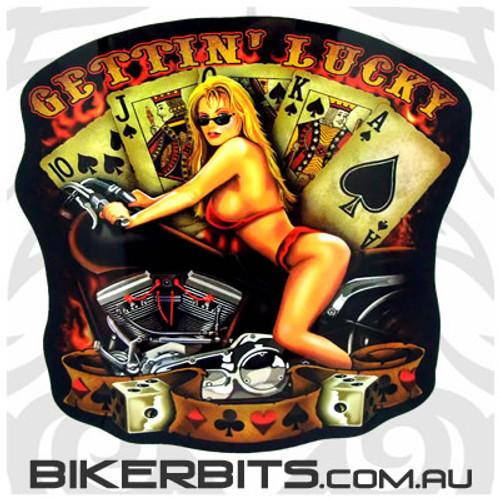 Biker Decal - Gettin' Lucky