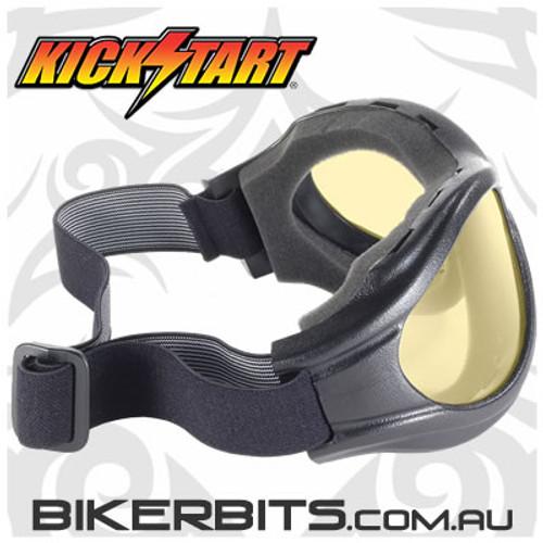Motorcycle Goggles - Kickstart Beast- Yellow/Black