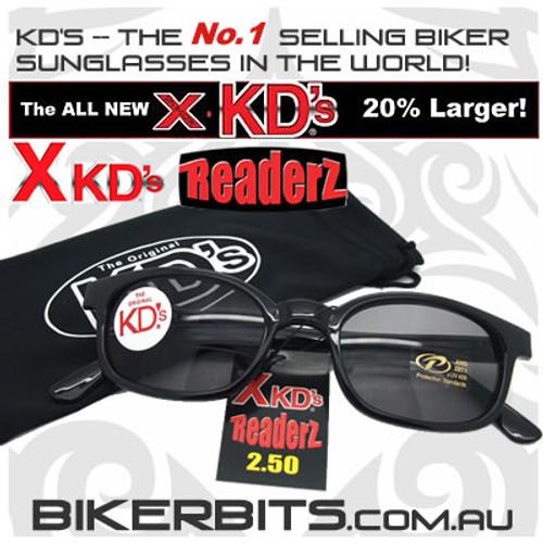 Motorcycle Sunglasses - X KD's Readerz - Smoke - 2.50