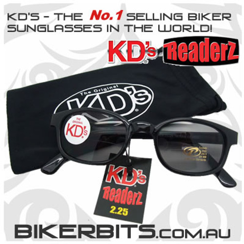 Motorcycle Sunglasses - KD's Bi-Focal Readerz - Smoke - 2.25